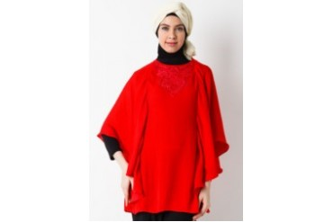Sofie Design Blouse Bordir Payet Merah