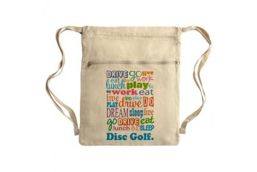 Disc Golf Sack Pack Occupation Cinch Sack by CafePress
