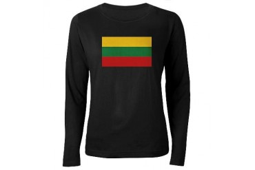 Flag of Lithuania Family Women's Long Sleeve Dark T-Shirt by CafePress