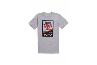 Mens Rvca T-Shirts - Rvca Tiger VA T-Shirt