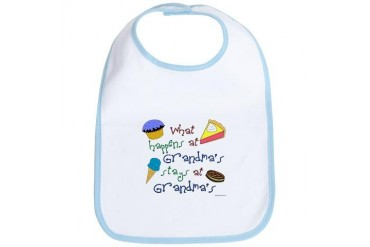 What happens at Grandma's stays at Grandma's Grandma Bib by CafePress