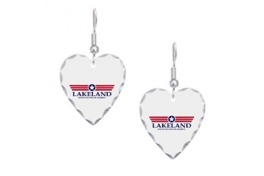 Lakeland Pride Florida Earring Heart Charm by CafePress
