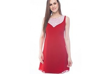 Fabulous Red Georgette Kurti