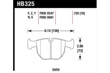 Hawk Performance Hawk HPS Performance Street Brake Pads HB325F.720 Disc Brake Pads