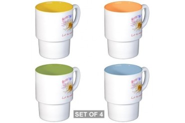 Music, Let the music fly Stackable Mug Set 4 mugs Music Stackable Mug Set 4 mugs by CafePress