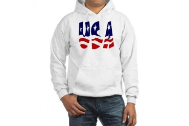 USA GEAR Military Hooded Sweatshirt by CafePress