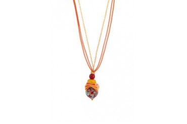 Murano Glass Bead Pendant Necklace