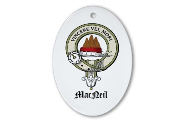 MacNeil of Barra Crest Crest Oval Ornament by CafePress