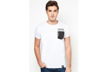 NEVER GROW OLD PU Pocket Tee