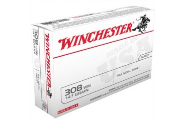 Winchester ''''white Box'''' Rifle Ammunition - Winchester Target Ammo .308 Win 147gr Fmj 20/Bx