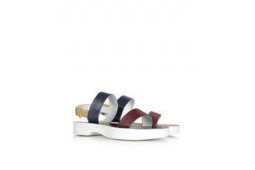 Color Block Leather Sandal