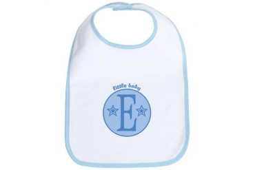 Baby E Baby boy Bib by CafePress
