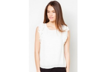 TLA Sleeveless Chiffon Top