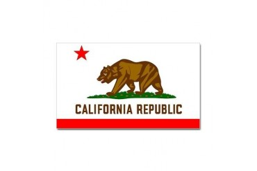 California Flag Rectangle Sticker