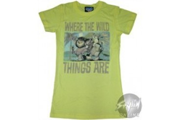 Where the Wild Things Are Buddies Baby Doll Tee by JUNK FOOD