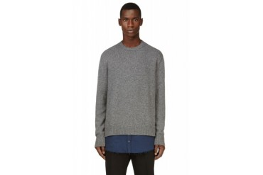 Dsquared2 Grey And Navy Layered hem Sweater