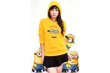 Despicable Me Dave The Minion Adult Hoodie (Gold)