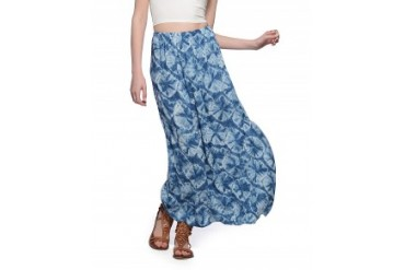 Alternative Apparel 'Haiku' Maxi Skirt Blue, L
