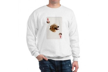 GOLDEN RETRIEVER PLAYING CARDS - ACE Breed Sweatshirt by CafePress