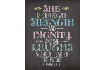 She is Clothed Poster Print by Jo Moulton (11 x 14)