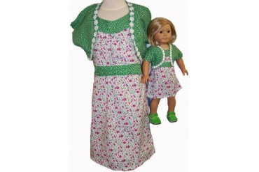 Size 14 Matching Girl And Doll Sundress With Jacket