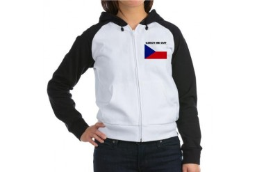 CZECH REPUBLIC SHIRT, FUNNY C Women's Raglan Hoodi Czech Women's Raglan Hoodie by CafePress