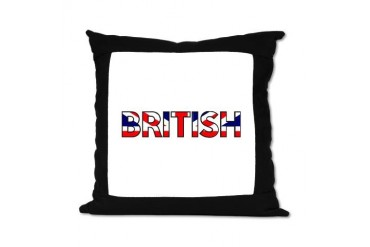 British 16 Pillow Funny Suede Pillow by CafePress