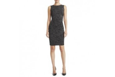 Sleeveless Double-Knit Snake Print Dress
