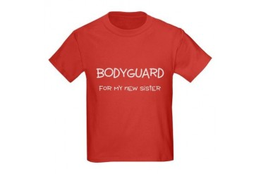 Bodyguard for my new sister Kids Dark T-Shirt