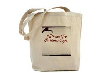 All I want for Christmas is You Love Tote Bag by CafePress