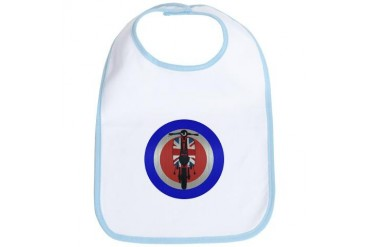 Union Jack Scooter metallic effect Retro Bib by CafePress