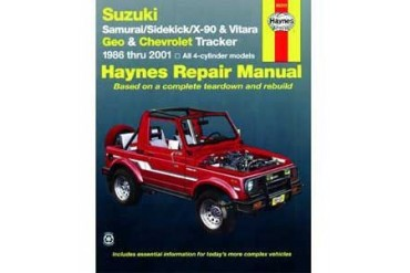 1986-1995 Suzuki Samurai Manual Haynes Suzuki Manual 90010 86 87 88 89 90 91 92 93 94 95