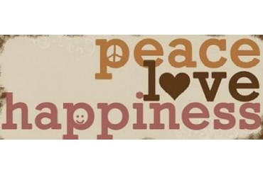 Peace Love Happiness Poster Print by Anna Quach (24 x 48)