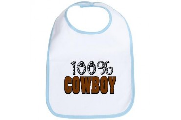 100 Cowboy Cool Bib by CafePress