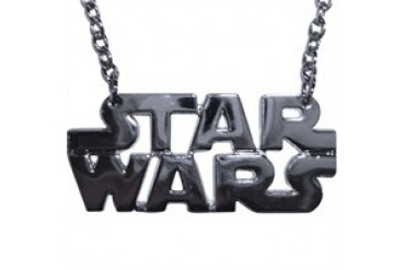 Star Wars Die Cut Name Silver Color Necklace