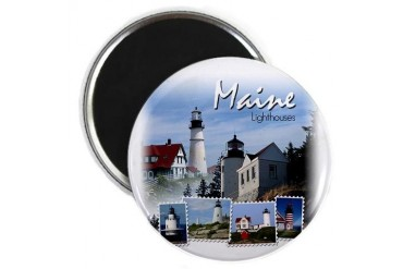 Maine Lighthouses Nature Magnet by CafePress