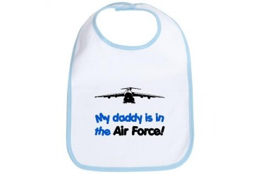 Daddy Is In The Air Force Military Bib by CafePress