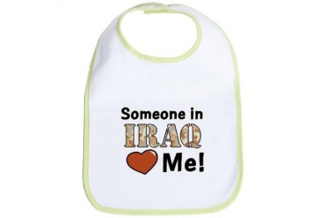 SOMEONE IN IRAQ LOVES ME Military Bib by CafePress