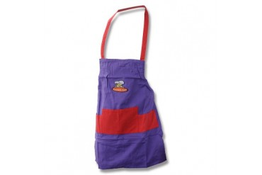 Curious Chef 4pc Child Chef Outfit Set - Purple/Red