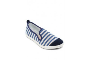 EZRA by ZALORA Striped Slip on Shoes