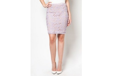 DressingPaula Lacy Knee Length Skirt