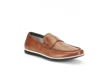Joe Don't Know Leather Contrast-Sole Loafer