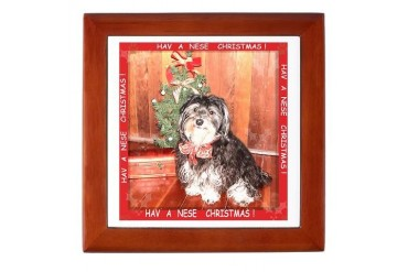 Havanese Holiday Havanese gift Keepsake Box by CafePress