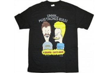 Beavis and Butthead Uhhh... Mustaches Rule T-Shirt