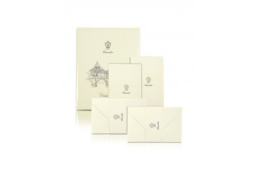 Vaticano - 25 Ivory Deckle-Edged Note Cards