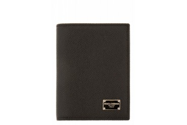 Dolce And Gabbana Black Leather Card Case
