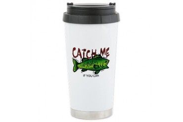 Catch Me Sports Ceramic Travel Mug by CafePress