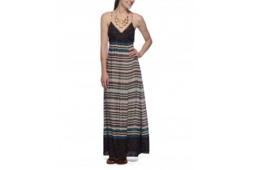 En Creme Striped Cross-Back Maxi Dress Multi, L