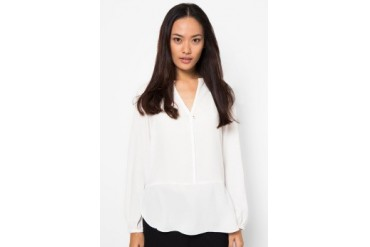 (X) S.M.L Single Studs Button Blouse