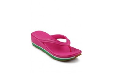 Crocs Retroflipwedgewomen Fuchsia Kelly Green